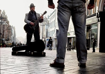 Buskers Paul Adrian and Steven Lockmoore